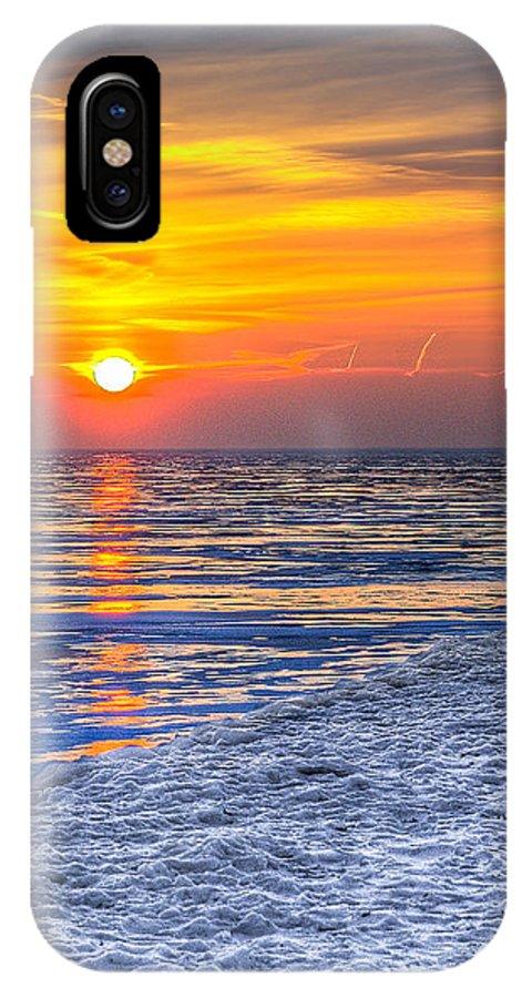 Lake Michigan IPhone X / XS Case featuring the photograph Sunrise Chicago Lake Michigan 3-9-14 by Michael Bennett
