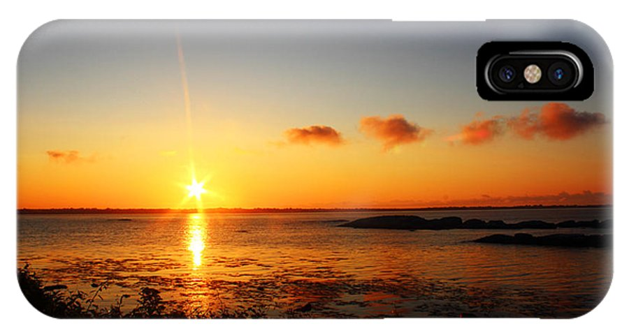 Sunrise IPhone X Case featuring the photograph Sunrise From Sachuest by Andrew Pacheco