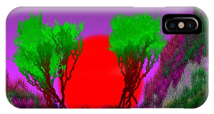 Sunrise IPhone X Case featuring the digital art Sunrise Gate by Dr Loifer Vladimir