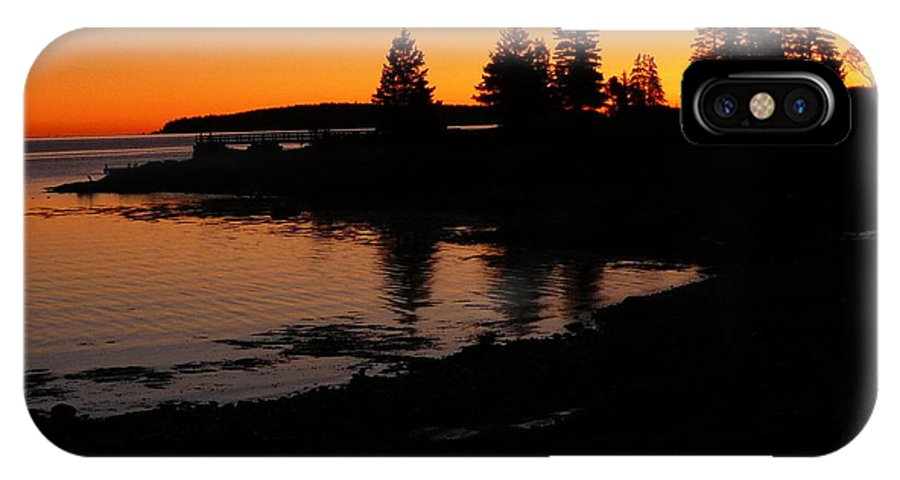 Landscape IPhone X Case featuring the photograph Sunrise In Bar Harbor Maine by Diane Carlson