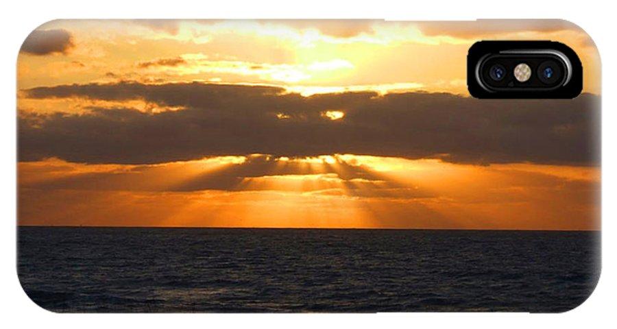 Beach IPhone X Case featuring the photograph Sunrise In Florida by Lyndall Hamlett