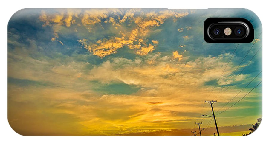 Sunrise IPhone X Case featuring the photograph Sunrise In Manaure Colombia by Jess Kraft