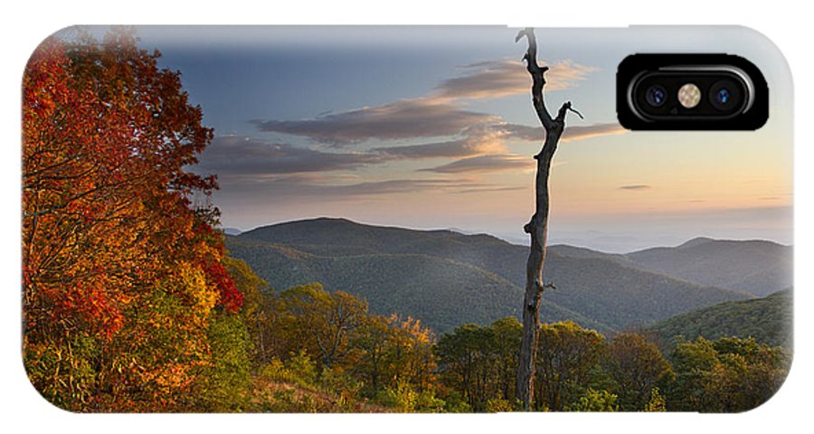 Shenandoah IPhone X Case featuring the photograph Sunrise In Shenandoah National Park by Pierre Leclerc Photography