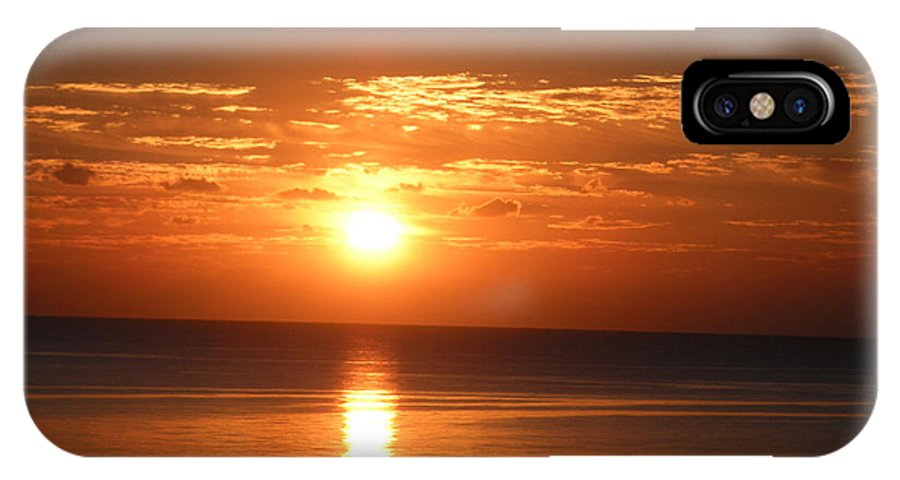 Sunrise IPhone X Case featuring the photograph Sunrise In The Bahamas by Katherine White