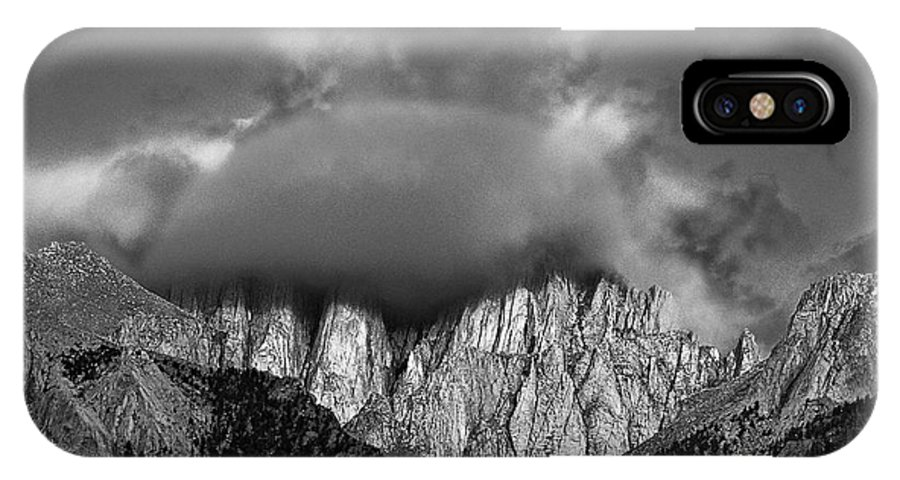 North America IPhone X Case featuring the photograph Sunrise On Mount Whitney Eastern Sierras California by Dave Welling