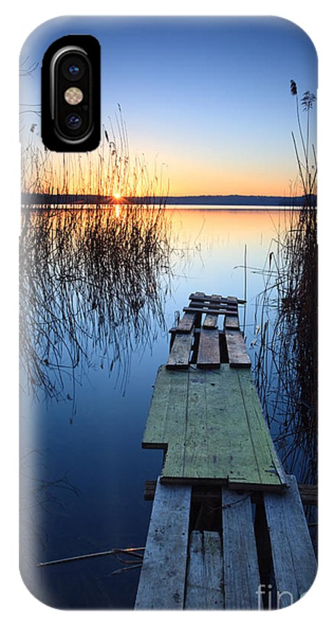 Lake IPhone X Case featuring the photograph Sunrise On The Lake II by Matteo Colombo