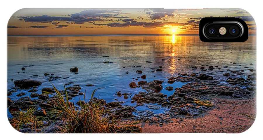 Sun IPhone X Case featuring the photograph Sunrise Over Lake Michigan by Scott Norris