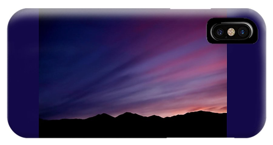 Salt Lake City IPhone X Case featuring the photograph Sunrise Over The Mountains by Rona Black