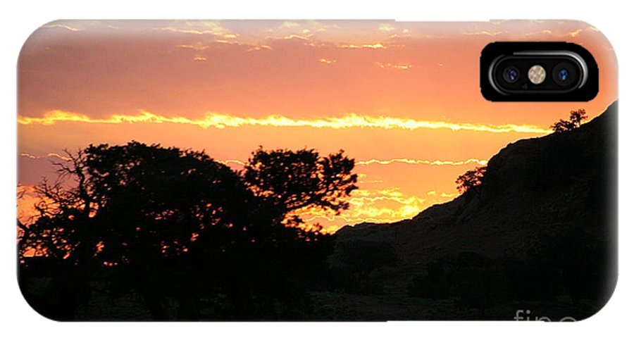 Outdoors IPhone X Case featuring the photograph Sunrise Scenery by Susan Herber