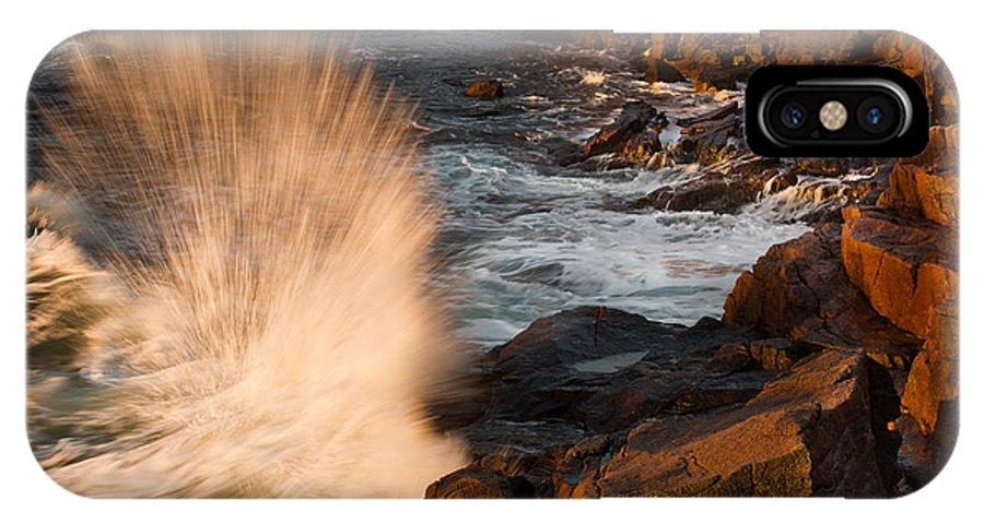 Jonathan Steele IPhone X Case featuring the photograph Sunrise Splash by Jonathan Steele
