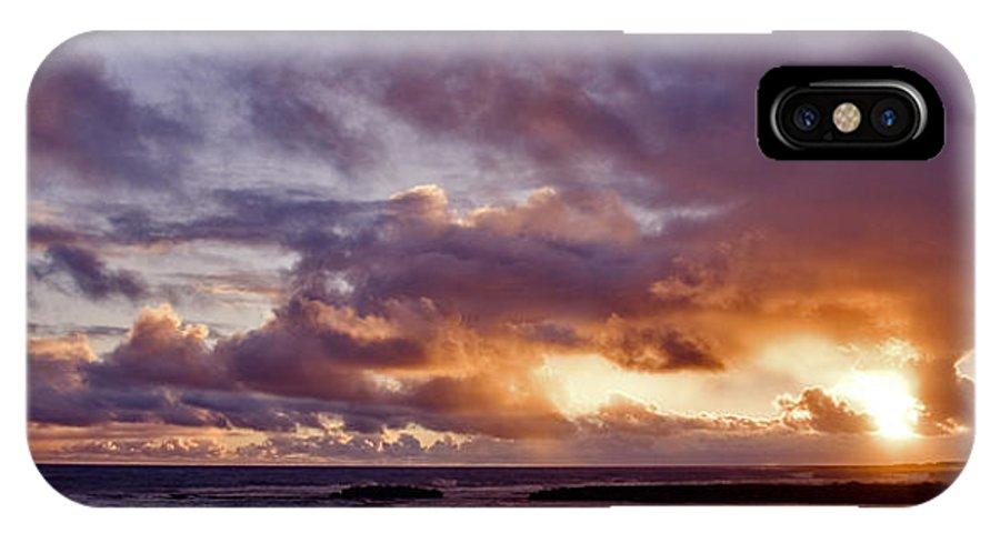 Hawaii IPhone X Case featuring the photograph Sunrise Splendor by Eric Swan