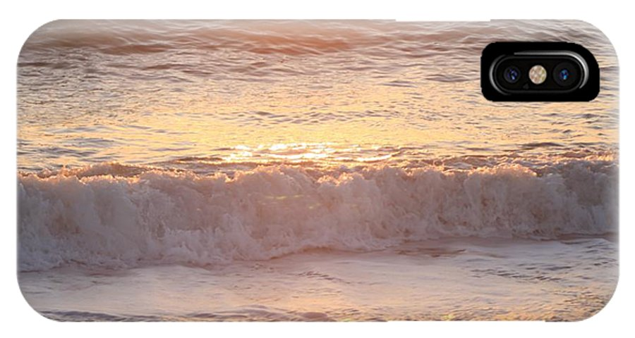 Waves IPhone X Case featuring the photograph Sunrise Waves by Nadine Rippelmeyer