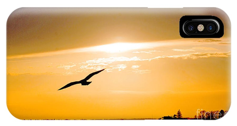 Sunset IPhone X Case featuring the photograph Sunscaped by Joe Geraci
