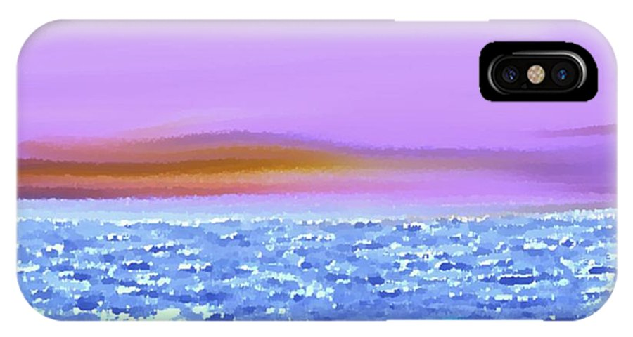 Sunset Sky Sea Waves Light Evening IPhone X Case featuring the digital art Sunset 2 by Dr Loifer Vladimir