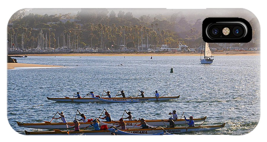 Sunset IPhone X Case featuring the photograph Sunset Activity At The Harbor by Lynn Bauer