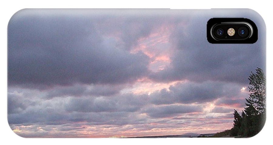 Clouds IPhone X Case featuring the photograph Sunset After The Storm by Susan Wyman