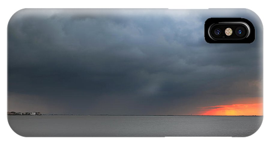 Sunset IPhone X Case featuring the photograph Sunset And Cloud by Thanh Nguyen