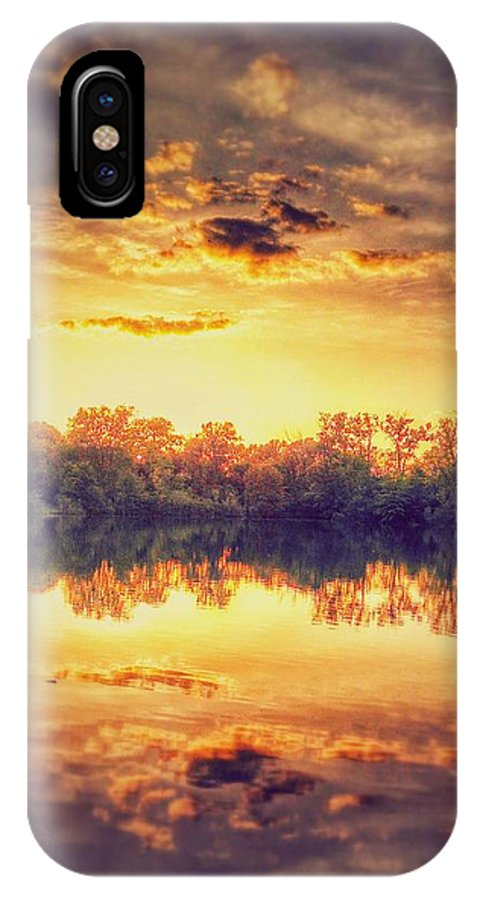 Sunsets IPhone X / XS Case featuring the photograph Sunset At Dam 6 by Dustin Soph
