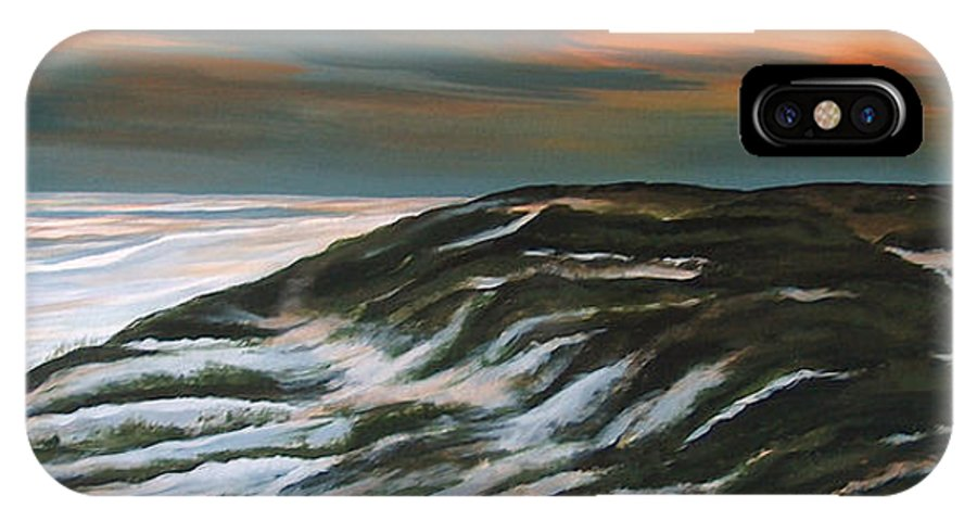 Grayton Beach IPhone X Case featuring the painting Sunset At Grayton Beach Park by Racquel Morgan