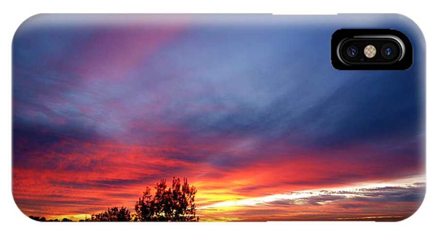 Sunset IPhone X Case featuring the photograph Sunset At Mount Carmel Haifa 01 by Arik Baltinester