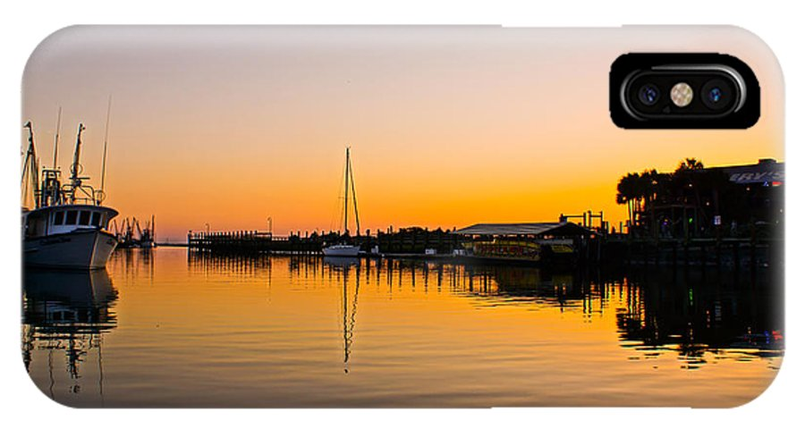Shem Creek IPhone X Case featuring the photograph Sunset At Shem Creek by Matthew Trudeau