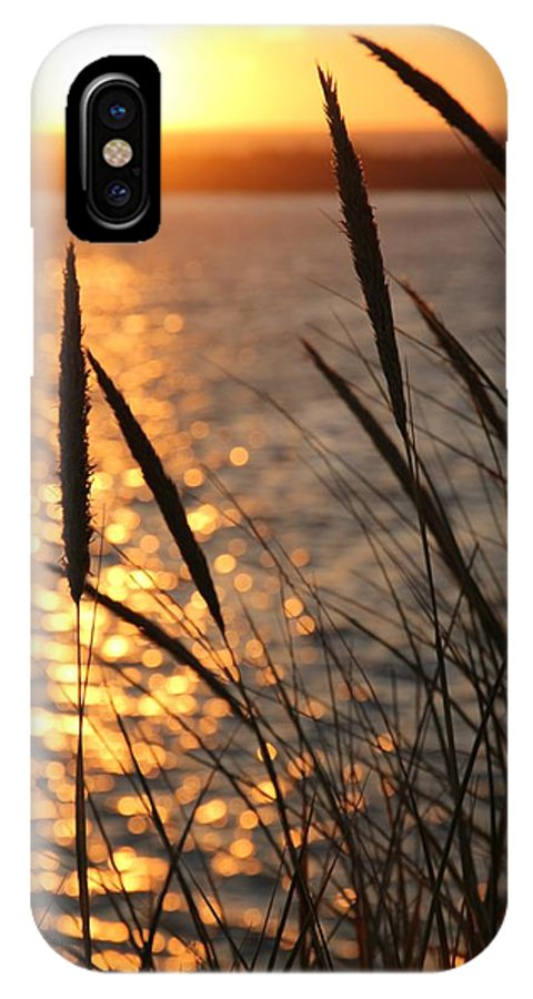 Sunset IPhone X Case featuring the photograph Sunset Beach by Athena Mckinzie