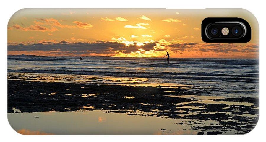 Landscape IPhone X Case featuring the photograph Sunset Beach by R Maass