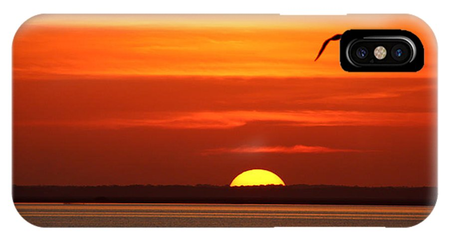 Sunset IPhone X / XS Case featuring the photograph Sunset by Brian Waits