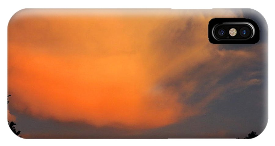 Sunset IPhone X Case featuring the photograph Sunset Cloud Series 19 by Bill Marder