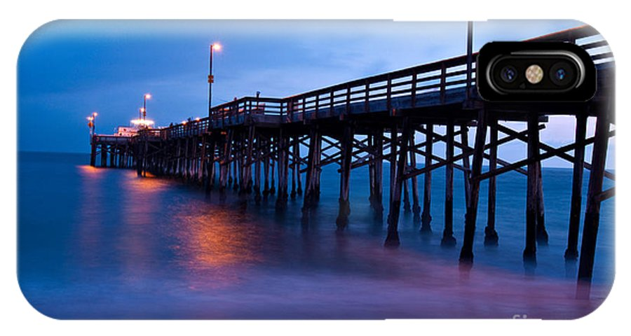 Pier IPhone X Case featuring the photograph Sunset From Balboa Pier Newport Beach California by Mark Skalny