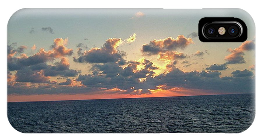 Carnival Triumph IPhone X Case featuring the photograph Sunset From The Carnival Triumph by Susan Wyman