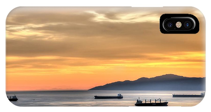 Sunset IPhone X Case featuring the photograph Sunset Gold by Doug Farmer