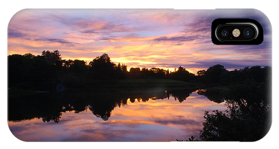 Sunset IPhone X Case featuring the photograph Sunset II At Japanese Garden by Nancy Mueller
