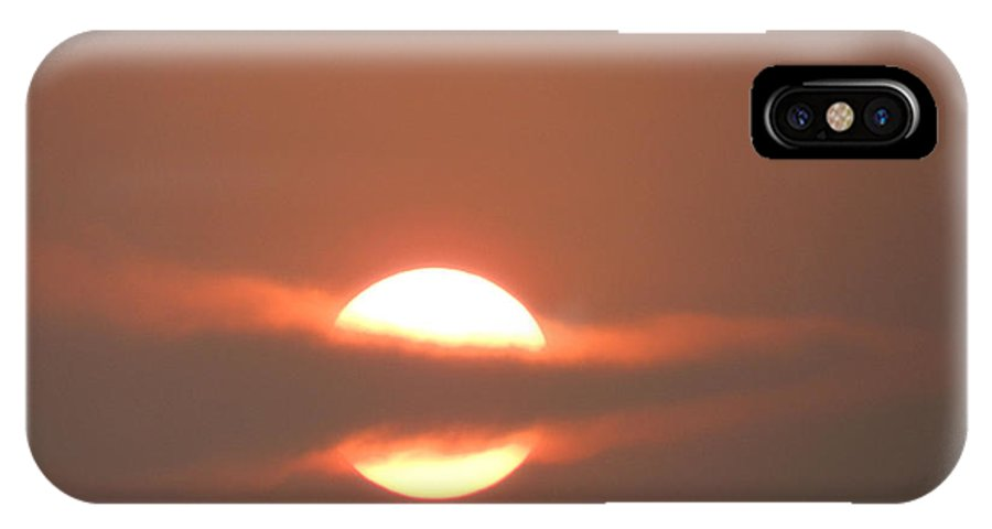 Sunset IPhone X Case featuring the photograph Sunset In Liberia by Latisha Wolf