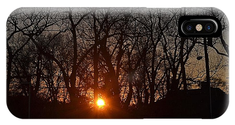 Sunset IPhone X Case featuring the photograph Sunset In Olde Town by James Potts