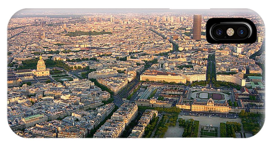 Paris IPhone X Case featuring the photograph Sunset In Paris by Deborah Smolinske