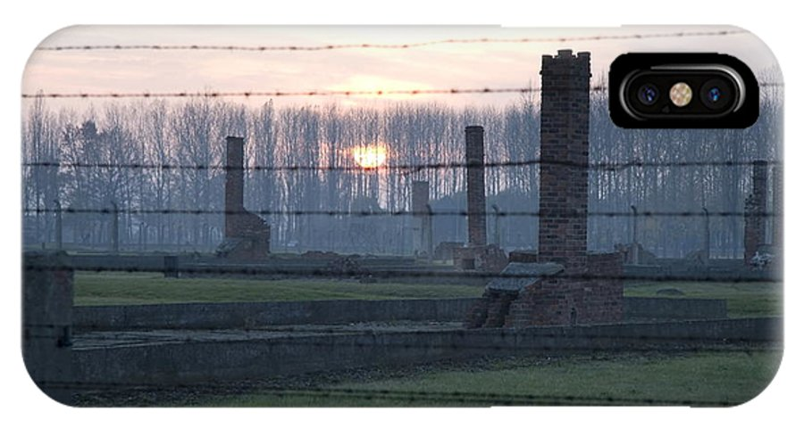 Sunset IPhone X Case featuring the photograph Sunset In The Former Death Camp Auschwitz Birkenau Poland by Ronald Jansen