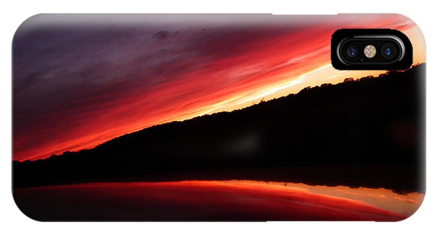Sunset IPhone X Case featuring the photograph Sunset by Jeffrey Wonders