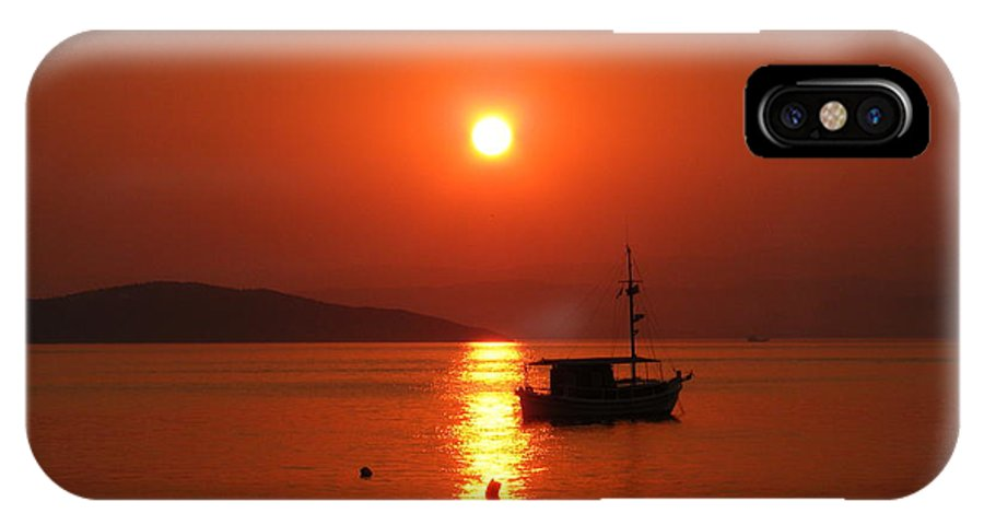 Sunset IPhone X Case featuring the photograph Sunset by Laurentiu Pavel
