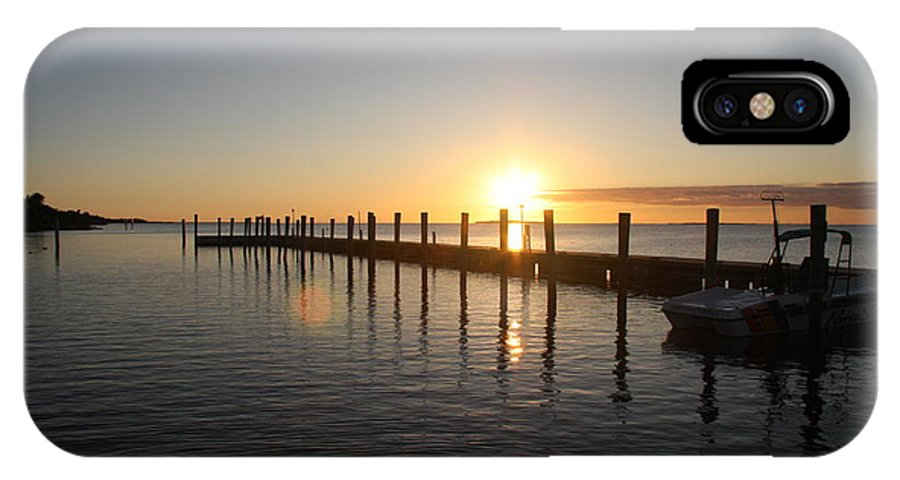 Sunset IPhone X Case featuring the photograph Sunset On Key Largo by Christiane Schulze Art And Photography