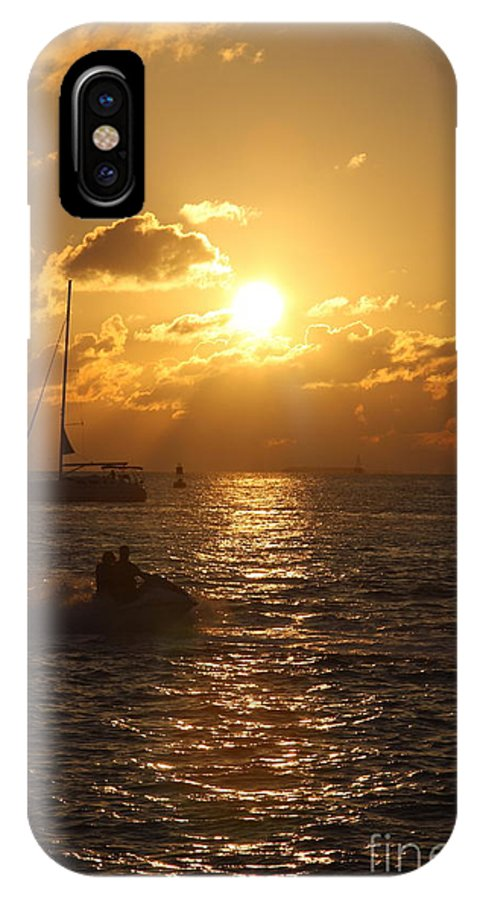 Sunset IPhone X Case featuring the photograph Sunset Over Key West by Christiane Schulze Art And Photography