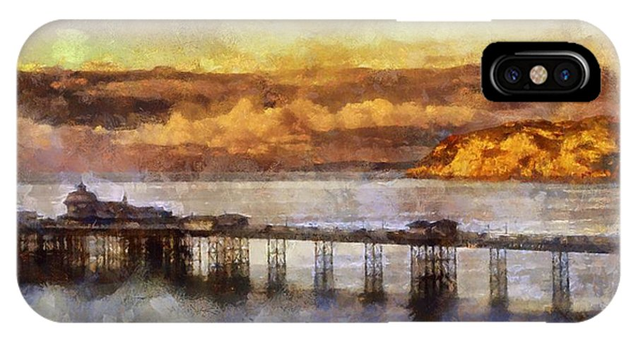 Digital IPhone X Case featuring the photograph Sunset On Little Orme by Karen Ann Jones