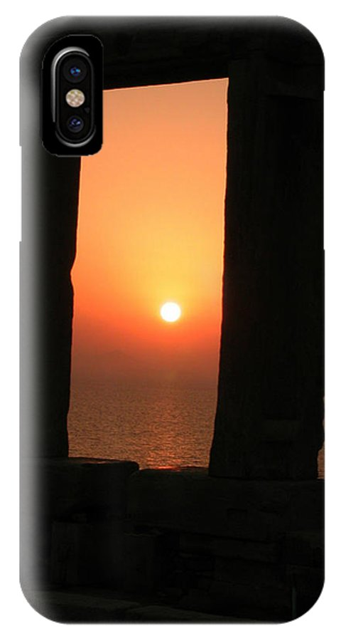Coletteguggenheim IPhone X Case featuring the photograph Sunset On Naxos Island Greece by Colette V Hera Guggenheim