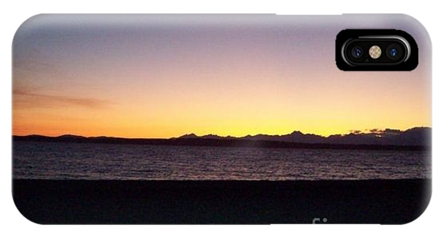 Sunset IPhone X Case featuring the photograph Sunset On The Beach by Christina Wysocki
