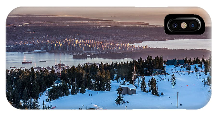 Vancouver IPhone X Case featuring the photograph Sunset On The City Of Vancouver by Pierre Leclerc Photography