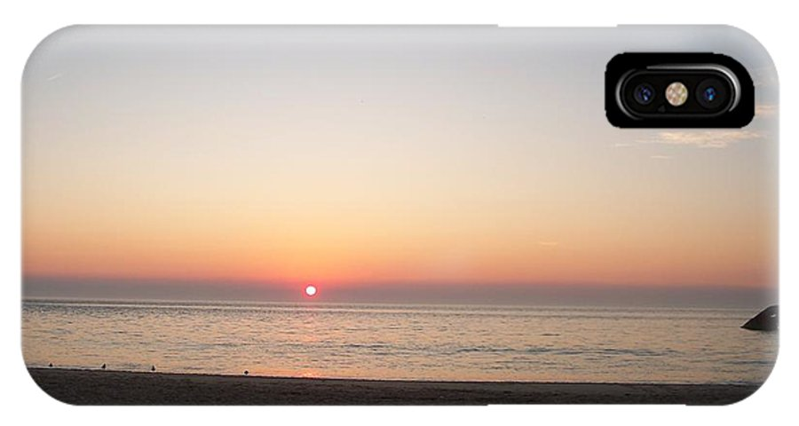 Atlantic IPhone X Case featuring the photograph Sunset On The Delaware Sunset Beach by Eric Schiabor