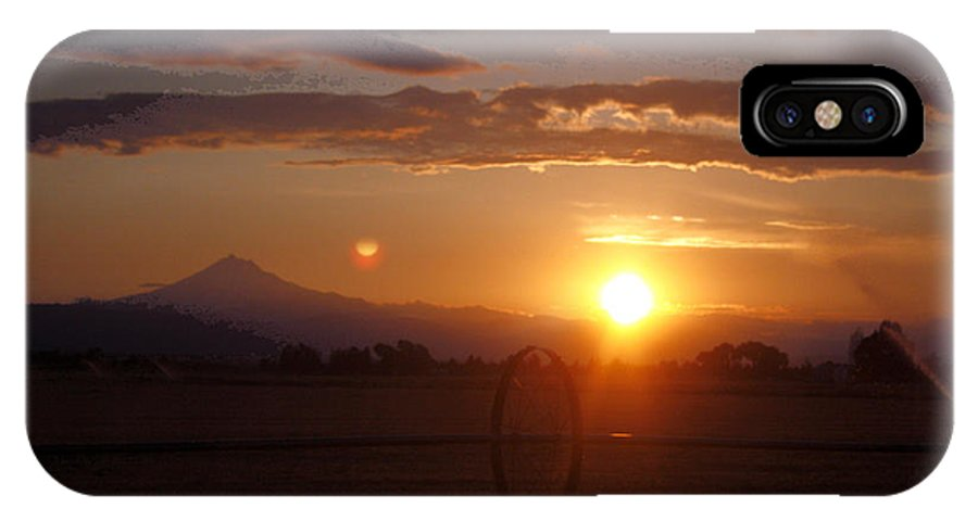 Sunset IPhone X / XS Case featuring the photograph Sunset On The Farm by Ray Finch