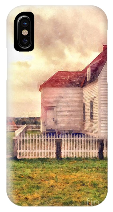 Farm IPhone X Case featuring the photograph Sunset On The Old Farm House by Edward Fielding