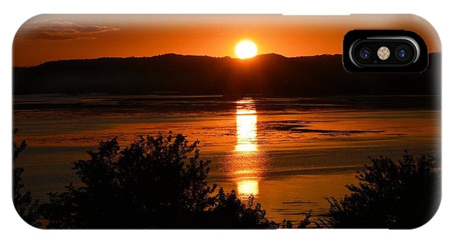 Lake Winnesheik IPhone X Case featuring the photograph Sunset On Winnesheik by Bonfire Photography