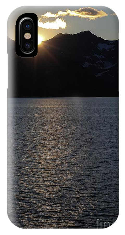 Sunset IPhone X Case featuring the photograph sunset over Alaska by Sophie Vigneault
